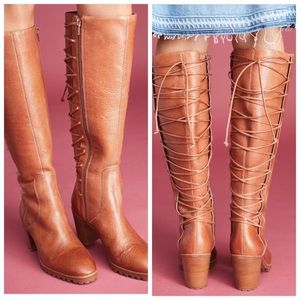 Anthropologie Brown Bernardo Frances Lace-up Boots
